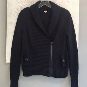 JCrew Wool cashmere blend cabin cardigan navy S